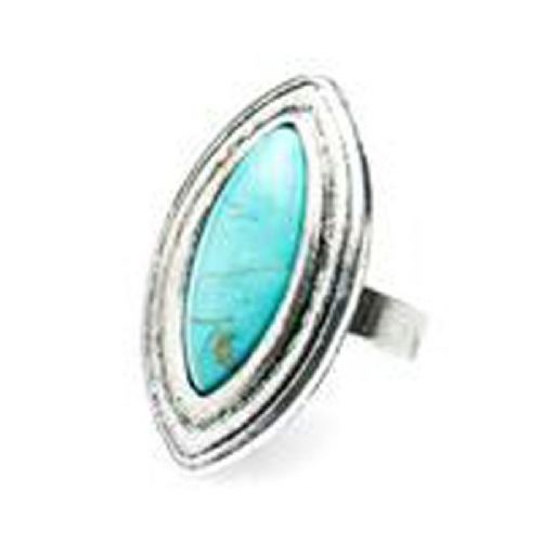 Turquoise Ring With Adjustable closure